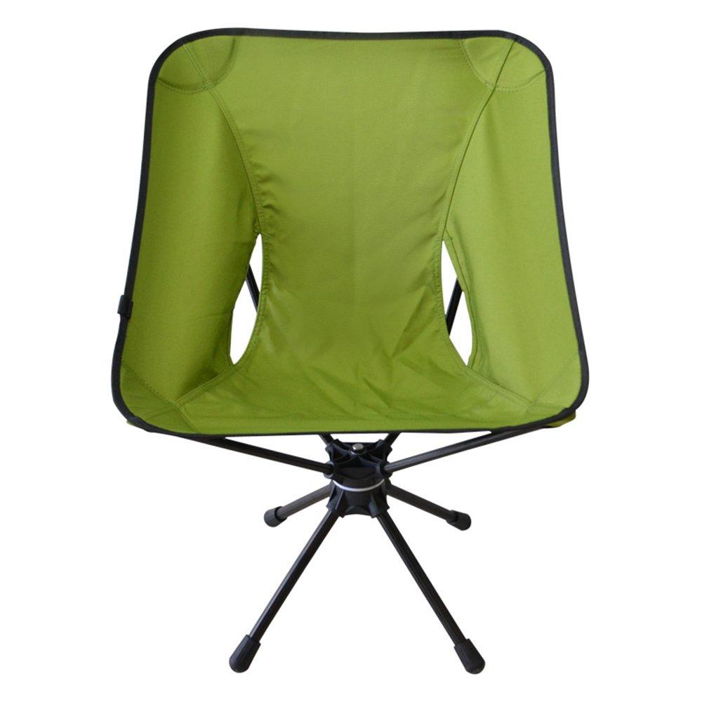 QFFL 回転可能なアルミ合金軽量折りたたみチェア/屋外クリエイティブシンプルなラウンジチェア/ポータブル多機能キャンプ釣りチェア(4色使用可能) アウトドアスツール (色 : Green) B07F8VWRFV Green Green