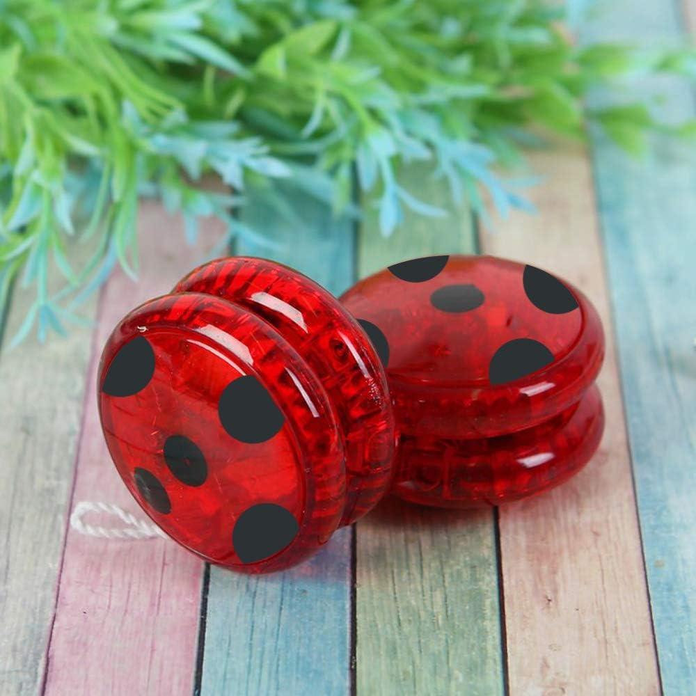 Hook Ladybug Yo Yo pi/ù e Orecchini per Ladybug Costumi Bambina Cosplay di Halloween di Natale per Bambini Coccinella Marinette 2X Elastici Rosso.