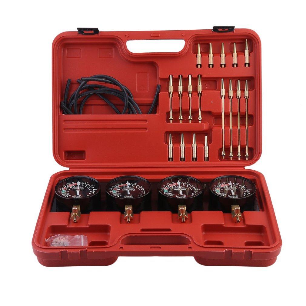 Fuel Vacuum Carburetor Synchronizer Set 4 Gauges Tool Kit,For Motorcycle Car Universal