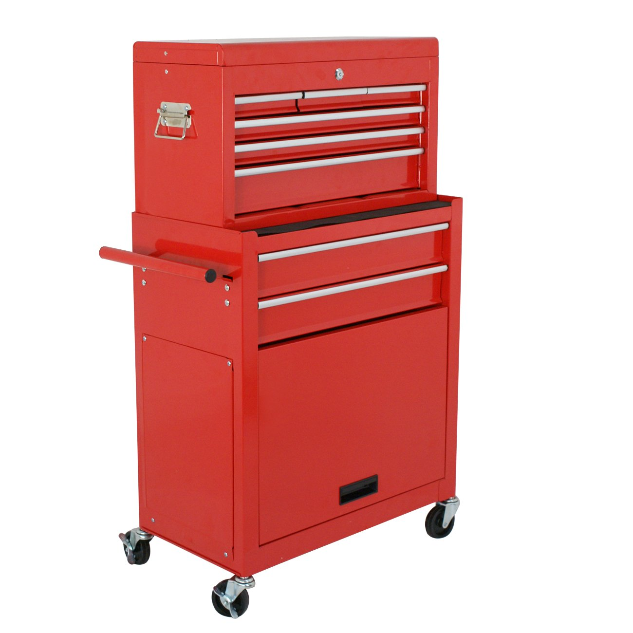 Amazon.com: F2C Solid Steel 24 Inch Portable Tool Chest Box Storage Garage  Toolbox 6 Drawers Top Chest Removable Rolling Tool Cabinet ,Red: Home  Improvement