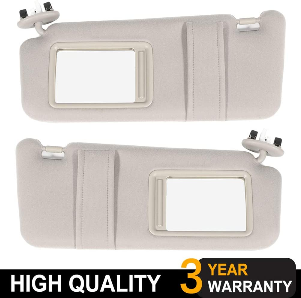 OE: 74320-06800-E0,74310-06750-E0 SCITOO Beige Left /& Right Interior Sun Visor fit for for Toyota Camry 2006-2011 with Sunroof
