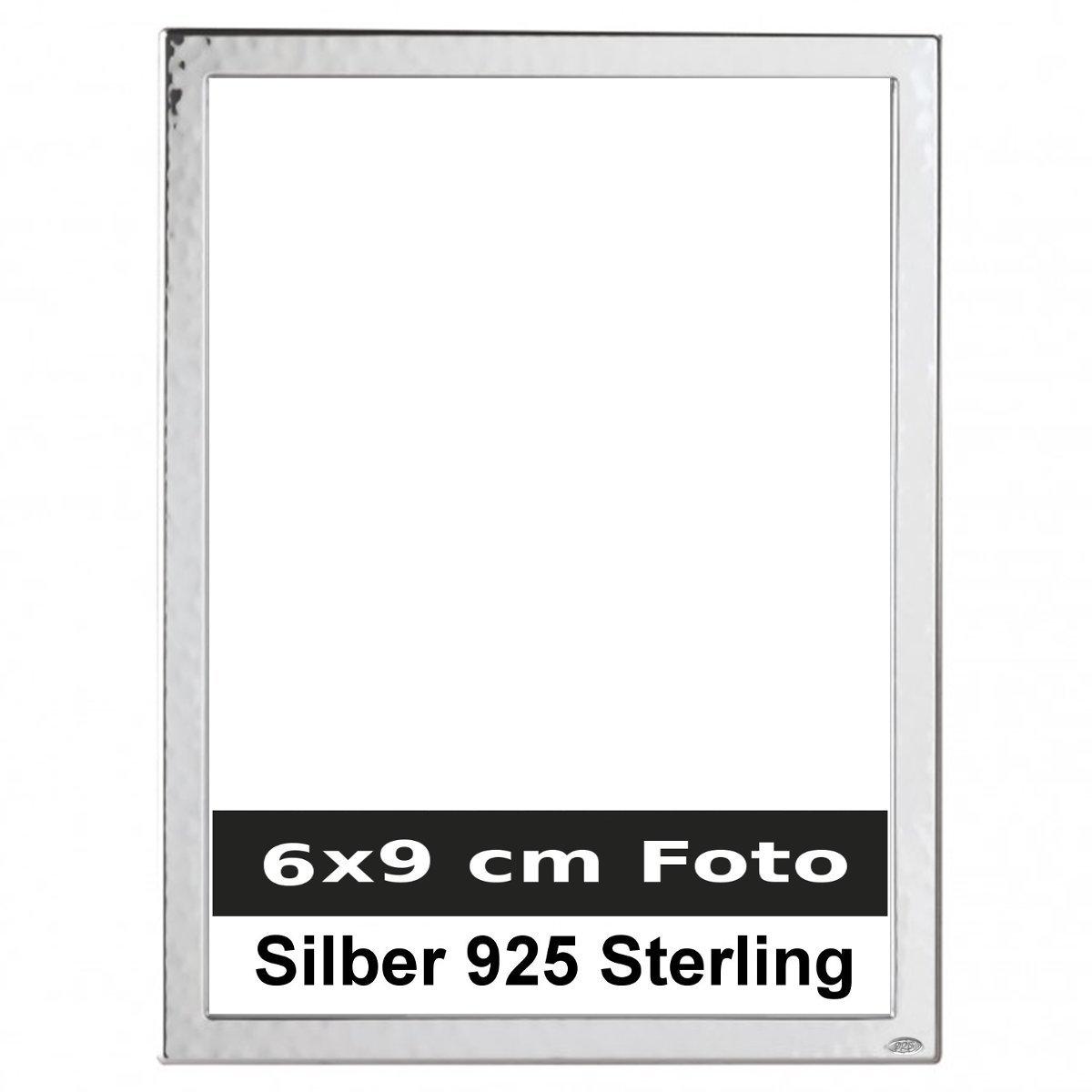Bilderrahmen Frankfurt 6x9 cm Foto Silber 925 Sterling mit Holzrücken