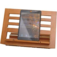 Di Grazia Wooden Bamboo Adjustable Portable Reading Stand/Book Stand Document Holder (Laptop/iPad/Book/Cookbook/Music Stand/Holder)