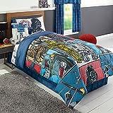 Star Wars Classic Queen Sized 5 Piece Bedding Set - Reversible Comforter & Sheet Set