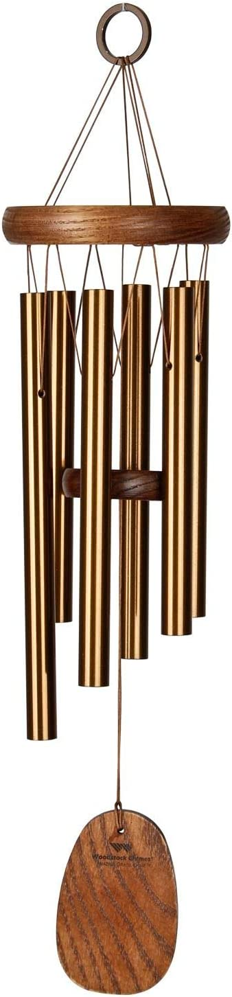 Woodstock Chimes AGSBR The Original Guaranteed Musically Tuned Amazing Grace Chime, Small