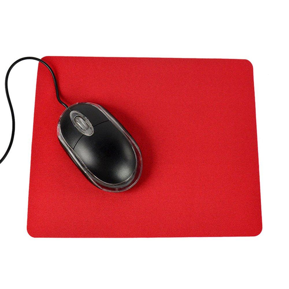 21.5x 17.5cm Gaming PC laptop mouse pad antiscivolo colore solido rettangolo tappetino Rycnet