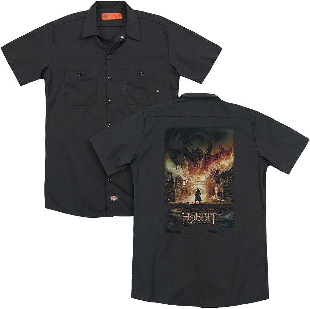 Hobbit Smaug Poster Adult Work Shirt