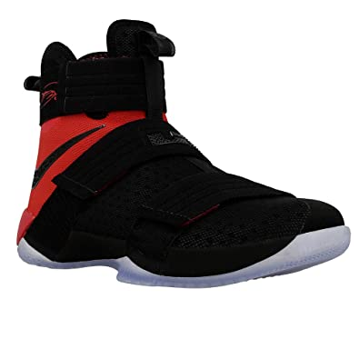 80c1def68 Nike Mens Lebron Soldier 10 SFG Basketball Shoe 10 D(M)  US,Black/Black-university Red,10 D(M) US