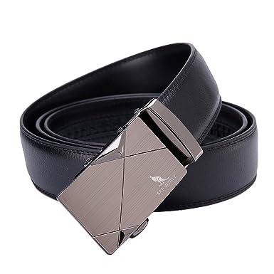 741a58f5116 Men Belt SAN VITALE Designer Belts Men High Quality Casual Reversible Buckle  with Automatic Ratchet Genuine Leather Belt for Men 35mm Wide 1 3 8