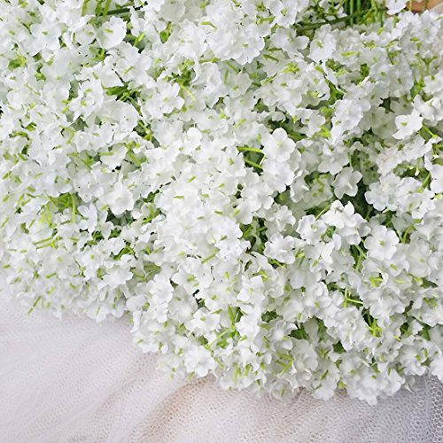Artificial babys breath amazon bringsine baby breathgypsophila wedding decoration white colour real touch artificial flowers 30 pieceslot mightylinksfo