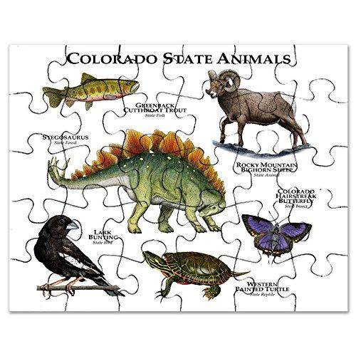 CafePress - Colorado State Animals - Jigsaw Puzzle, 30 pcs.