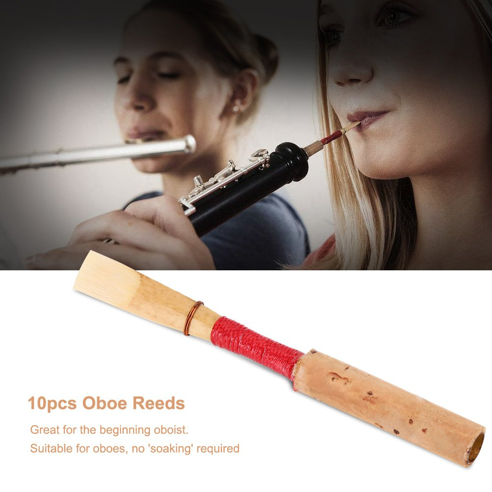 Oboe Reeds Medium Soft 5pcs Red Handmade Oboe Reed Instrument Accessories with Case/Tube Vbestlife 4334283077