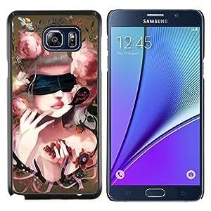 YiPhone /// Prima de resorte delgada de la cubierta del caso de Shell Armor - Naturaleza Pink Mountain - Samsung Galaxy Note 5 5th N9200