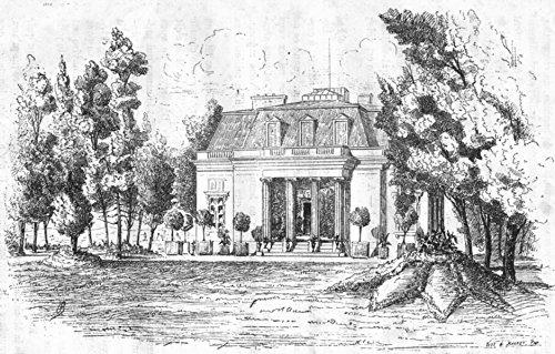 (YVELINES. Pavillon Dubarry - 1880 - old print - antique print - vintage print - Yvelines art prints)