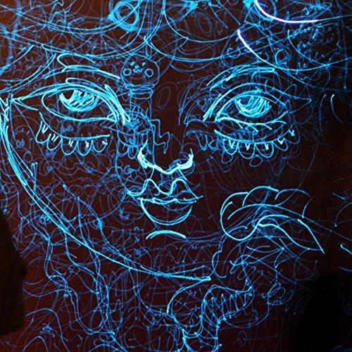 Blue Glow in the Dark & UV Reactive Pigment Powder - 500 Grams by Techno Glow Inc (Image #4)