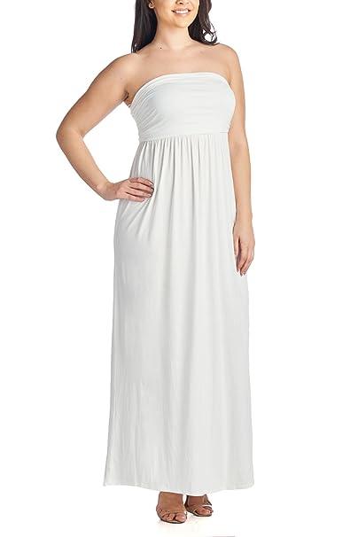 Beachcoco Women\'s Plus Size Comfortable Maxi Tube Dress