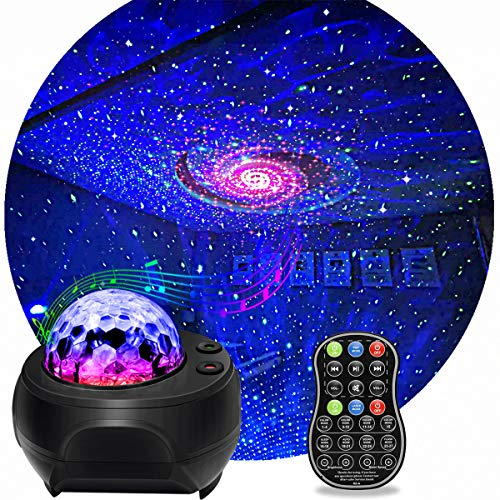 Star Light Projector, KisMee LED Nebula Projector with Galaxy Starry Projector Light Build-in Bluetooth Hi-Fi Stereo Music Speaker for Kid's Bedroom/Pary/Birthday Gifts/Home Theatre