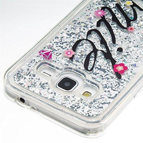 Samsung J3 J310 Fall Sand Muster Bling transparente Clear Case weichen flexiblen TPU Silikongel rückseitige Abdeckung mit IMD Druck TPU Bumper Schutzhülle für Samsung J3 J310 ( Color : 6 , Size : Sams