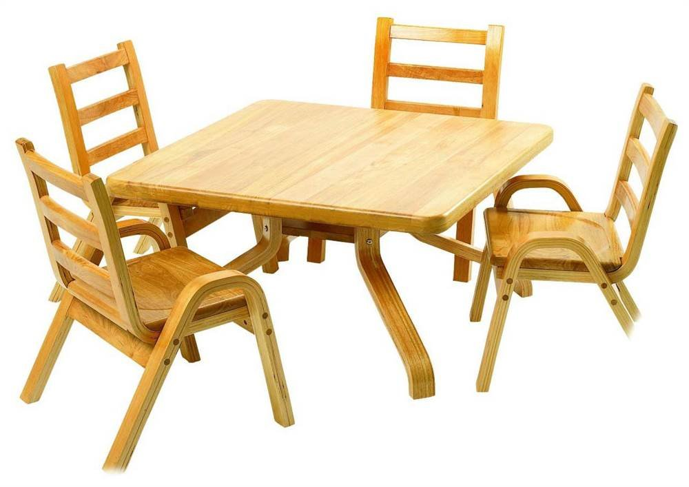 Angeles Wooden Square Table (22 in. Height)
