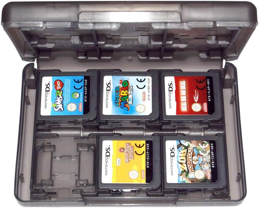 Semoic ゲームホルダーケース 3Ds 2Ds Ds Cartridge 24in1 Travel Black Zedlabz用