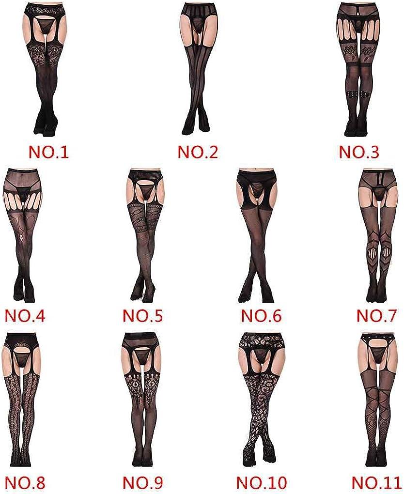 Beaums Mujer en las medias de alta del muslo tapa del cord/ón correa de liga de la ropa interior Medias Pantys