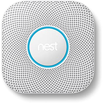 Nest Protect Smoke and Carbon Monoxide Alarm, Protect Your Home From Fire and Gas Leaks, Even When You're Away, Wired (Second Generation)