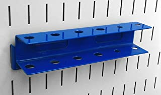 product image for Wall Control Pegboard Screwdriver Holder Bracket Slotted Metal Pegboard Accessory Pegboard and Slotted Tool Board – Blue