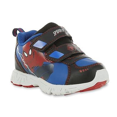 f10b7c21e244 Marvel Spider-Man Toddler Boys Blue Red Black Sneaker (US M 6 - Baby