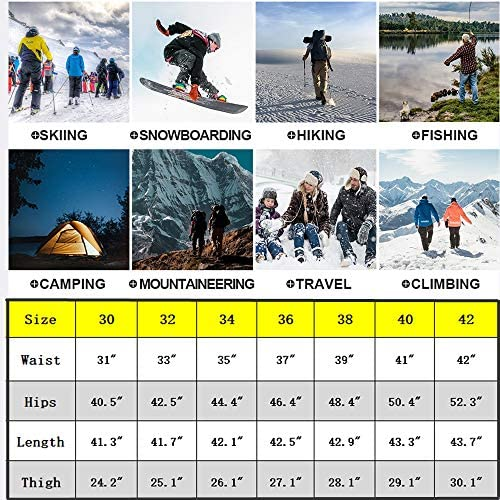 Jessie Kidden Mens Waterproof Hiking Pants, Outdoor Snow Ski Fishing Fleece Lined Insulated Soft Shell Winter Pants