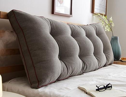 JTWJ Cojín para sofá Grande - Almohada Doble Larga, Almohada ...