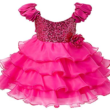 Sofyana Baby Girls Sequinned Princess Gown Birthday Party Wear