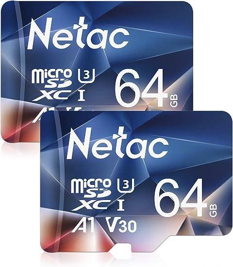 Netac Tarjeta Micro SD 64gb, Tarjeta microSDXC con Velocidad de ...