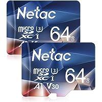 Netac Tarjeta Micro SD 64gb, Tarjeta microSDXC con Velocidad de Lectura hasta 100 MB/s (Micro SD Clase 10, U3, V30 y A1…