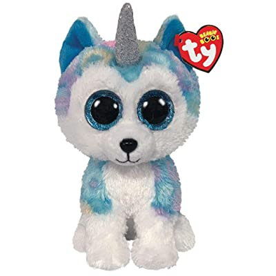 Ty TY36458 Helena Husky W/Horn-Boo MED, Multicolored: Toys & Games