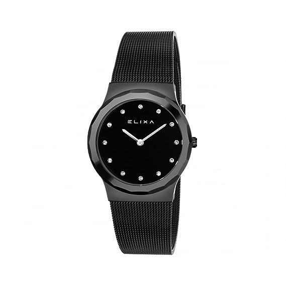 Reloj Elixa Mujer Acero y Cerámica Cristal Zafiro E101-L397 ...