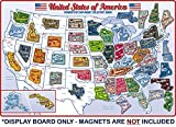 Premium State Magnet Collector's Metal Board