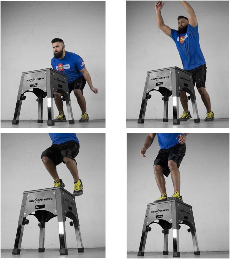 Rep Ajustable Caja 16/20/24, pliométrica para Agilidad Ejercicios y Caja Jump Training: Amazon.es: Deportes y aire libre