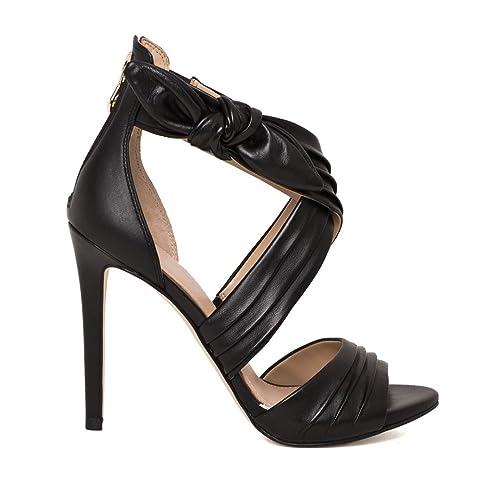 Guess Scarpe Sandali Donna in Pelle Nero Tacco Stiletto  Amazon.it ... 712b980bcbd