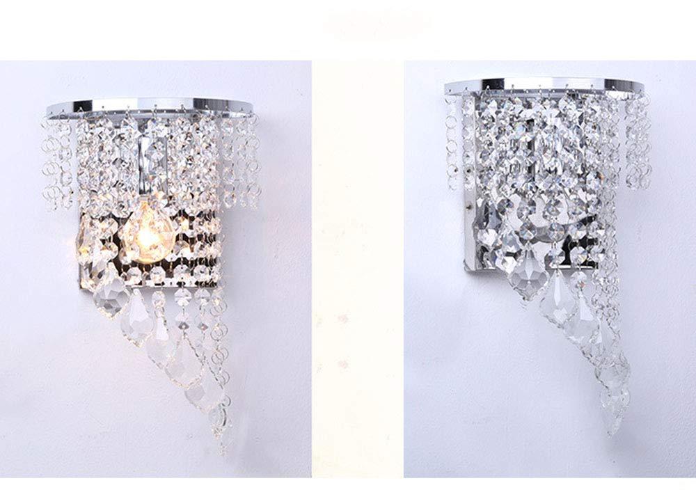Crystal wall plafoniere moderna lampada da parete appliques cromo