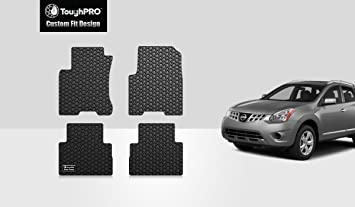 All Weather - Black Rubber 2014 2017 Compatible with Nissan Rogue Heavy Duty - 2015 ToughPRO Floor Mats Set 2018 2020 Made in USA Front Row + 2nd Row 2019 2016