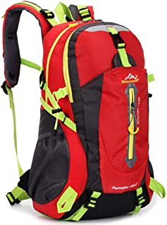 Delicacydex 40l Resistente al Agua Mochila de Viaje Campamento Caminata Portátil Mochila Trekking Volver a Subir Bolsas para Hombres y Mujeres - Rojo