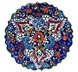 Nazar Turkish Imports ~Hand Painted Ceramic Plate-7 inch-Navy