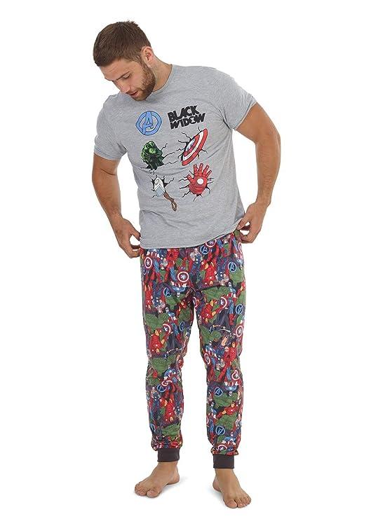 1 o 3 unidades Conjunto de pijama para hombre de manga corta y pantalones largos de verano