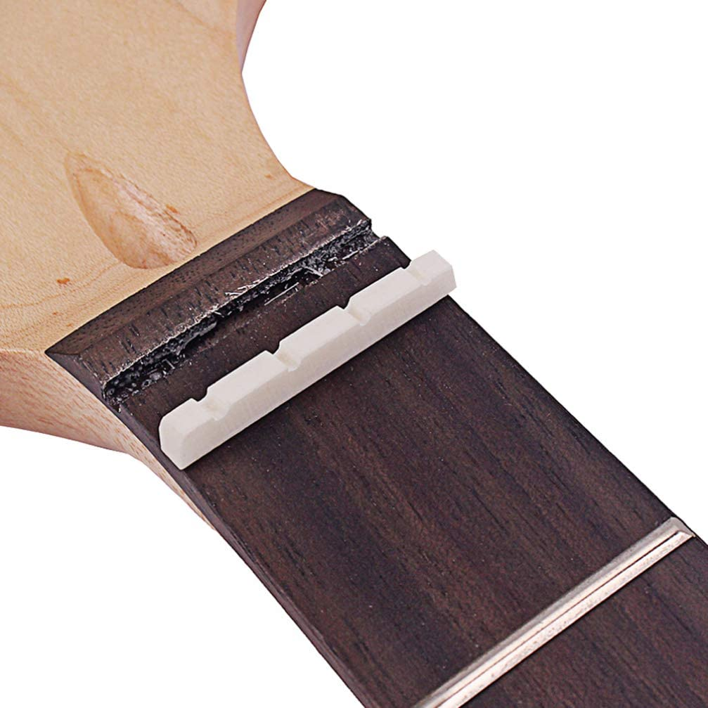 Marfil Healifty Reemplazo de Tuerca de Puente de Guitarra Sill/ín de Tuerca de Hueso de 4 Cuerdas para Guitarra Ac/ústica Cl/ásica Mandolina Ukelele Banjo