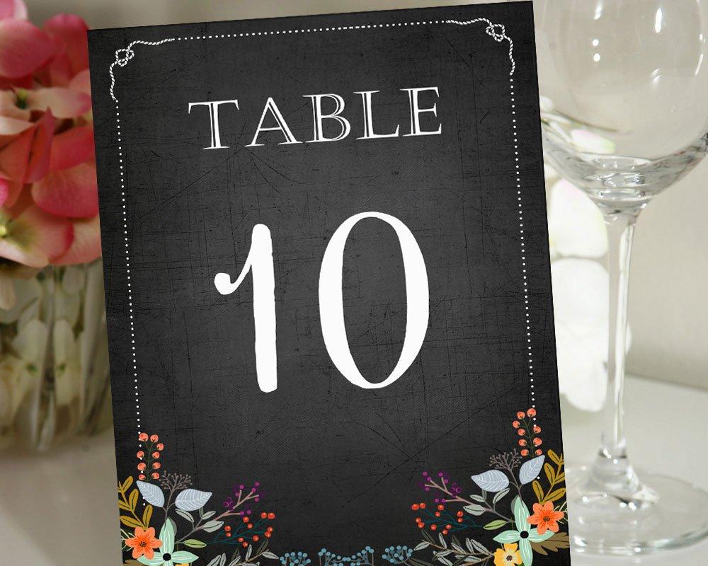 Darling Souvenir, Pizarra Estilo 1-12 Números de la Tabla ...