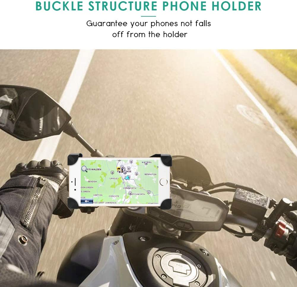 Motorcycle Motorbike Phone Mount Holder Handlebar Compatible with 3.5-6.5 inch Samsung Galaxy S5 S6 S7 S8 S9 Nexus LG Huawei Smartphones Leagway Motorcycle Phone Holder 360 Degree Rotation Rose