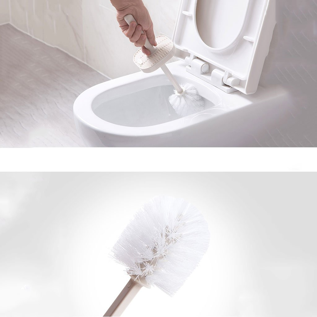 LWF Badezimmer-Toilettenbürste Weiche Bürsten-Set Rattan Textur WC