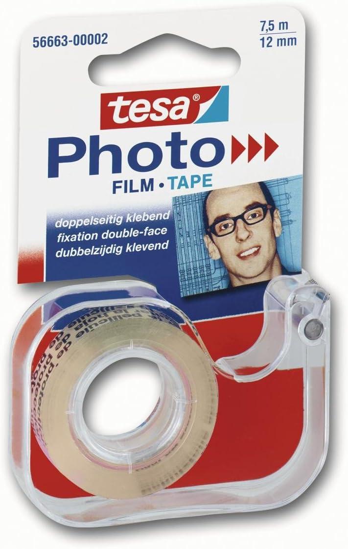 Tesa 56663 Ruban adh/ésif double face pour photo 7,5 m x 12 mm Import Allemagne