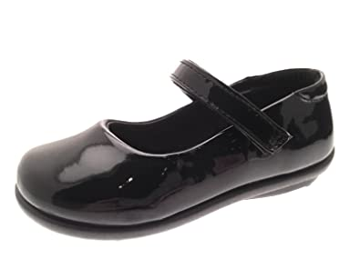 Lora Dora Girls Kids Black Mary Jane School Shoes Size UK 6-2:  Amazon.co.uk: Shoes & Bags