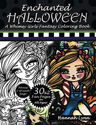 Enchanted Halloween: A Whimsy Girls Fantasy Coloring Book -